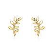 Damen Ohrstecker Blätterranke aus 375er Gold