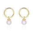 9K Gold Ohrstecker für Damen mit Perlen