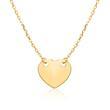 Gravierbare Damenkette Herz aus 375er Gold