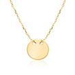 Halskette für Damen aus 9-karätigem Gold, gravierbar