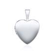 Kette und Medaillon Herz aus 14K Weißgold gravierbar
