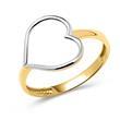 333er Gold Ring mit zierlichen Herz