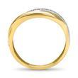 Goldring 333er silber gold twist Zirkonia
