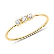 9K Gold Ring For Ladies With White Zirconia