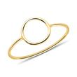 Damenring Kreis aus 375er Gold
