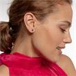 Sechseckige Ohrstecker für Damen aus 925er Silber