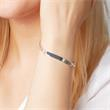 5,5mm 925 Silber Armband Gravur