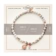 Damen Armband aus Howlith Edelstahl rosé gravierbar