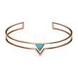 Damen Armreif Turquoise Triangle aus Edelstahl rosé