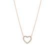 Halskette Open Heart aus rosévergoldetem Edelstahl