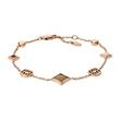 Armband Signature Diamond für Damen aus Edelstahl, rosé