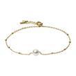 Damen Armband aus vergoldetem Edelstahl mit Perle