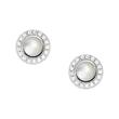 Mother Of Pearl Ear Studs For Ladies In Sterling Silver