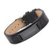 Armband Leder schwarz verstellbar Lasergravur