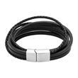 Gravierbares Armband silber/schwarz 6 Strähnen