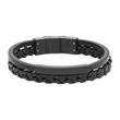 Armband aus schwarzem Leder gravierbar