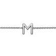 14ct. White Gold Bracelet With Letter Or Symbol