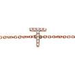 Diamantarmband aus 14K Roségold, 2 Buchstaben, Symbole