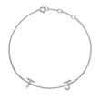 14ct. White Gold Bracelet With Diamonds, 2 Letters