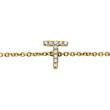 Bracelet 14ct. Gold, Diamonds, 2 Letters, Symbols