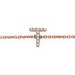 Armband aus 14K Roségold mit Diamanten, 4 Buchstaben