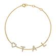 Armband aus 14K Gold mit Diamanten, 4 Buchstaben