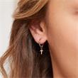 14ct. White Gold Hoop Earrings, Diamond-Set Letters