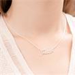 Namenskette Silber Zirkonia Namenskette