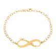 Armband Infinity Sterlingsilber vergoldet