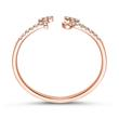 14ct. Rose Gold Personalisable Ring With Diamonds