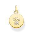 Anhänger Coin Katzen Pfote aus vergoldetem 925er Silber