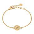 Damen Armband Windrose aus vergoldetem 925er Silber