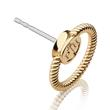 Earstuds Rope Loop made of gold-plated stainless steel