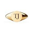 Gravur Ring Signet für Damen aus vergoldetem Edelstahl