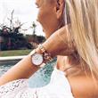 Armband Phrep für Damen aus Leder braun rosé