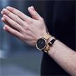 Nylon Armband schwarz gold