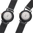 Uhr Black Sunray für Herren aus Edelstahl, schwarz