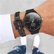 Schwarzes Nylon-Armband Phinity für Herren