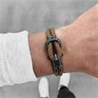 Phinity Armband für Herren aus Nylon und Edelstahl