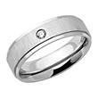 Moderner Edelstahl Ring mattiert mit Zirkonia