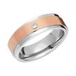 Vergoldeter Ring Edelstahl 6mm Zirkonia