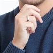 Hochwertiger Ring poliertem Edelstahl
