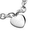 Modernes Silberarmband mit Herzanhänger