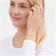 Rosé-vergoldetes 925 Silberarmband Herzanhänger