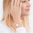 925er Silberarmband Perlmutt Herzanhänger