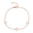 Rosévergoldetes 925er Silber Armband mit Zirkonia