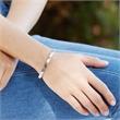 Rosévergoldetes 925er Silberarmband gravierbar Zirkonia