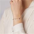 Plättchen Armband aus 925er Silber