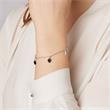 925er Silber Armband mit Herzanhängern