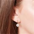 925er Silber Ohrhänger vergoldet Steinbesatz